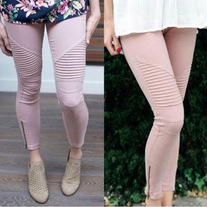 Pants - DUSTY ROSE • Stretchy Biker Pants